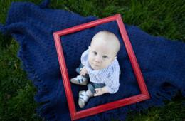Oliver 6 Months | Mahomet, IL Baby Portrait Photographer
